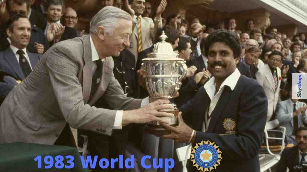 ICC CRICKET WORLD CUP 1983 WINNER WAS INDIA