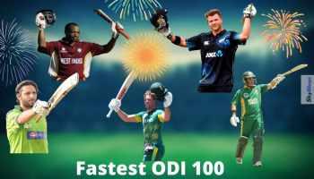 Top Five Batsmen With Fastest 100 In ODI