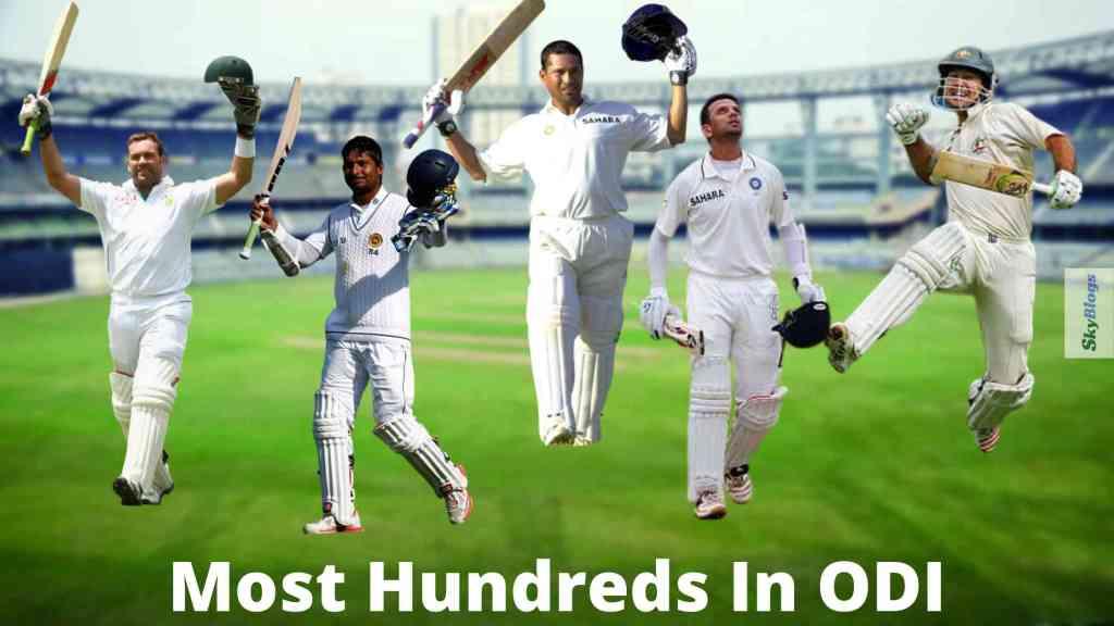 Most Hundreds In ODI