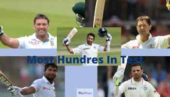 most hundreds in tests