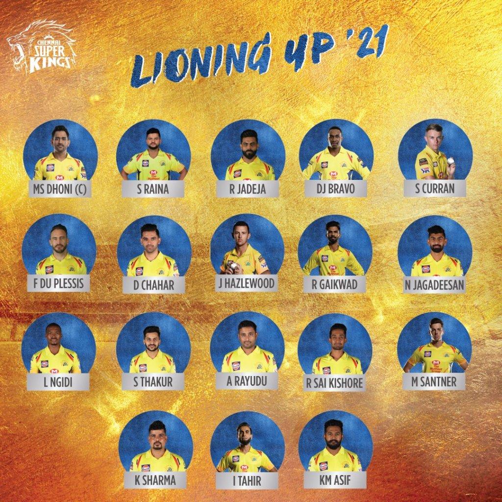 CSK IPL 2021 UAE Players List