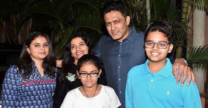 Anil Kumble and his family