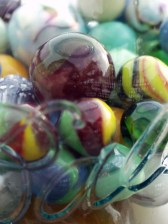 closest marbles in Ball jar