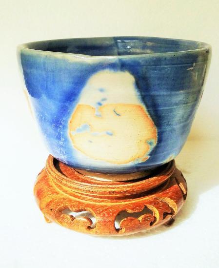 cup blue patch