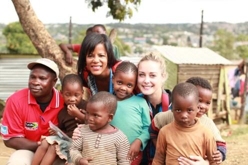 At a township next to shooting Mahatma Gandhi's home in Kwazulu-Natal