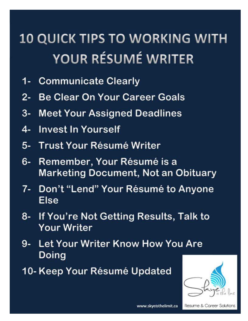 Tips For Writing The Best Resume For Your Post Graduation Job Search  Professional Resume Writing Tips