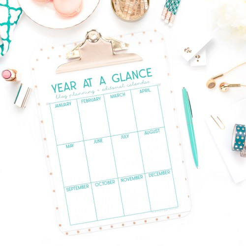 Plan Your Blog a Year in Advance + Free Download