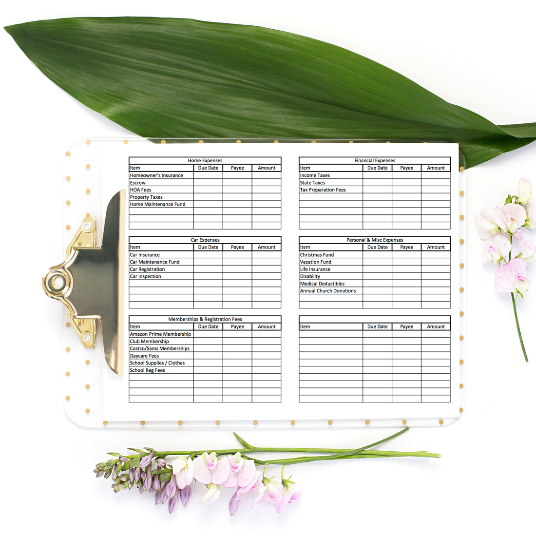 Annual Expenses Tracker