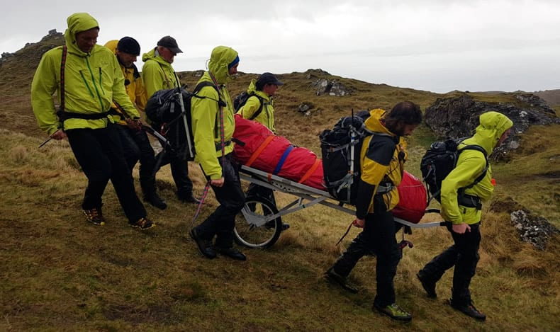 Skye MRT evacuating casualty
