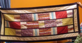 Quilted silk hanging