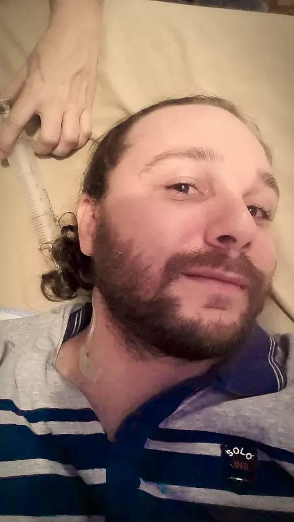 Selfie Getting Ozone Treatment