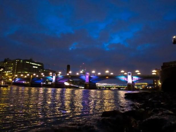 Nighttime London Skyline