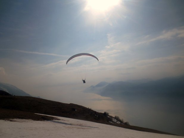 Paraglider on Monte Baldo