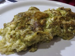 Pesto Lasagne Seconds at Pizzaria, Vernazza
