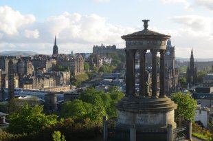 Dugald Stewart Monument and Edinburgh