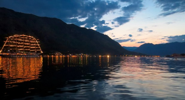 Bay of Kotor at Sunset