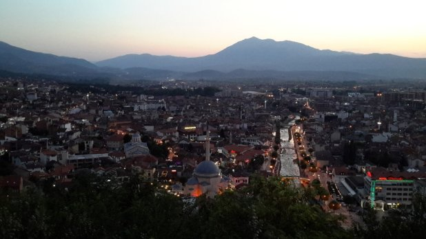 View of Prizren from the Fortress at Night