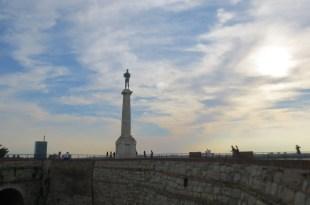 Belgrade Fortress Statue at Dusk