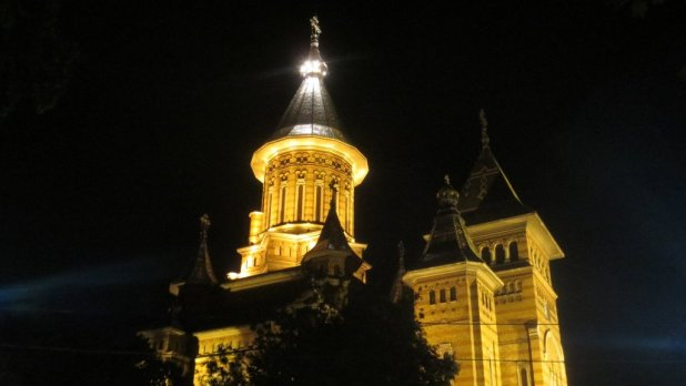 Orthodox Cathedral at Night