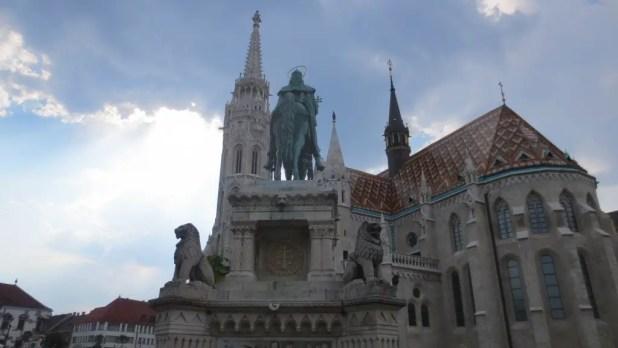 St Stephen's Statue and Matthias Church