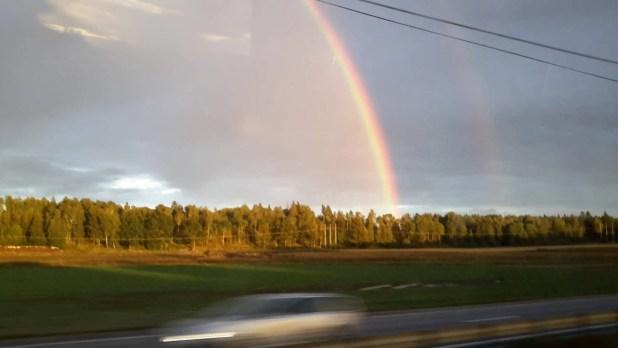 Rainbow from Bus