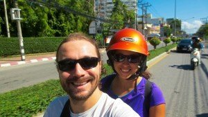 Gwen and I Riding to Doi Suthep