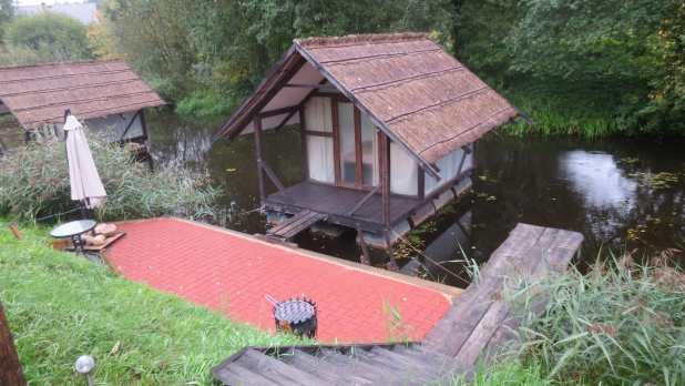 Floating Bungalow at Zanzibara Camping in Riga, Latvia