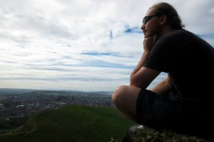 Skye Class, aka Homeless Man, at Arthur's Seat, Edinburgh