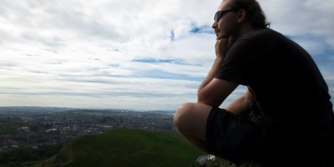 Skye Class, aka Homeless Man, at Arthur's Seat, Edinburgh
