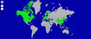 Countries Visited in first 365 Days