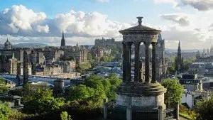 Edinburgh with Dugald Stewart Monument