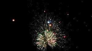 Fireworks at Loi Krathong