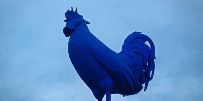 Blue Chicken in Trafalgar Square