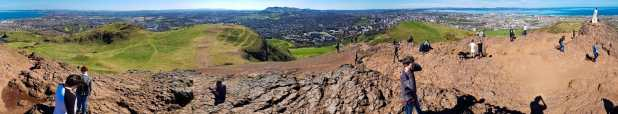Panorama from Arthur's Seat