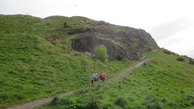Trail up Salisbury's Crags