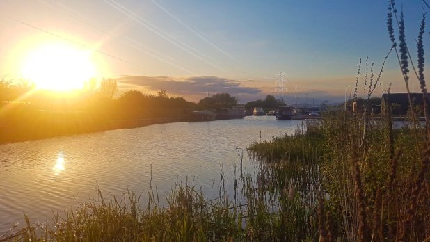Sunset over the Helix Canal