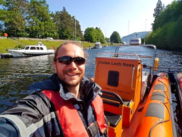 Selfie on Cruise Loch Ness