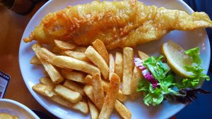 Fish and Chips at Skein Inn