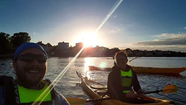 Kayaking in Karlskrona Harbor