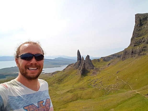 Selfie at Old Man of Storr