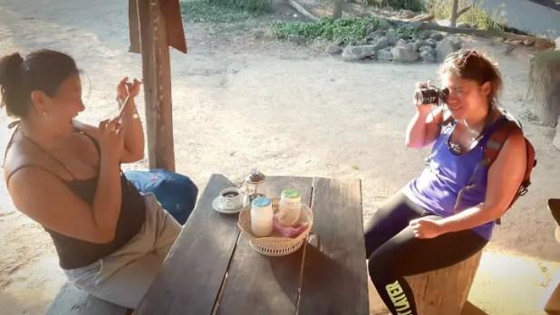 Coffee Buddies in a Thai Village