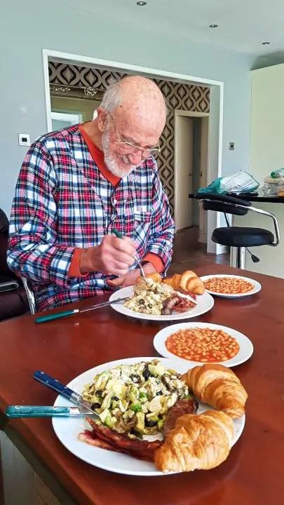 Dad Eating Breakfast