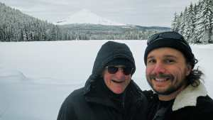 Dad and I at Mt. Hood (Christmas Present)