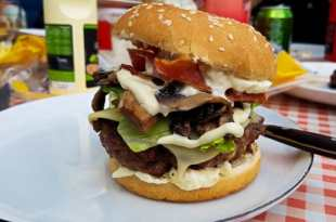 Giant Burger with Mayonnaise