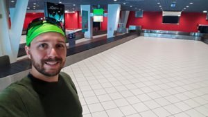 Selfie in Lyon Airport
