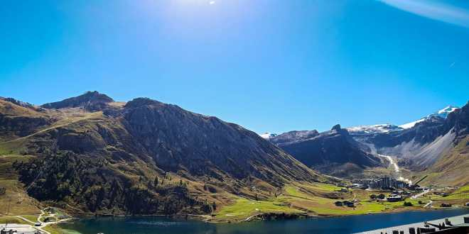 Tignes View after Hitchhiking