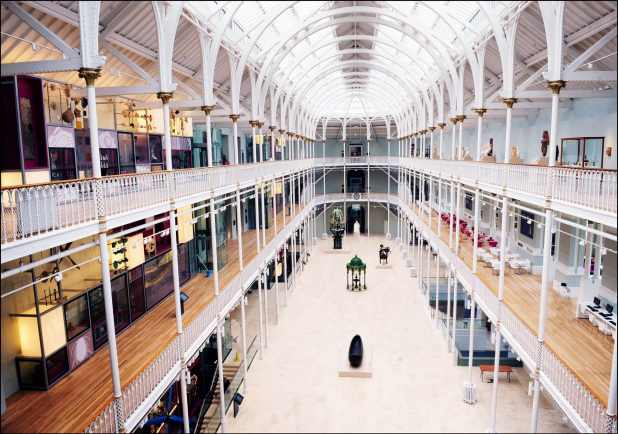 Grand Gallery at the National Museum of Scotland. Copyright National Museums Scotland