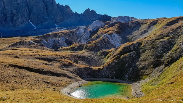 Turquoise Lake Near Tignes
