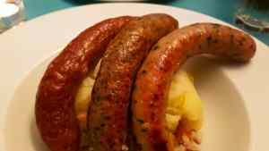 Bangers and Mash at MUMS Comfort Food