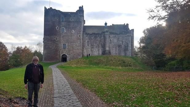 Dad at Doune Castle
